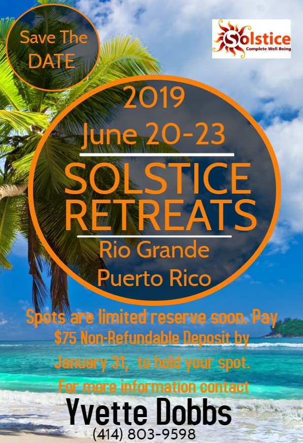 Solstice Retreat PR Flyer Save the Date